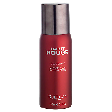 buy guerlain habit rouge deodorant spray 150ml john lewis. Black Bedroom Furniture Sets. Home Design Ideas