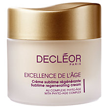 Buy Decléor Excellence De L'Age Sublime Regenerating Cream, 50ml Online at johnlewis.com