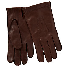 Buy John Lewis Wool Lined Handsewn Leather Gloves Online at johnlewis.com