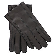 Buy John Lewis Leather & Cashmere Gloves Online at johnlewis.com