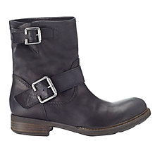 Buy Jigsaw Marco Buckle Biker Slip-On Leather Ankle Boots Online at johnlewis.com