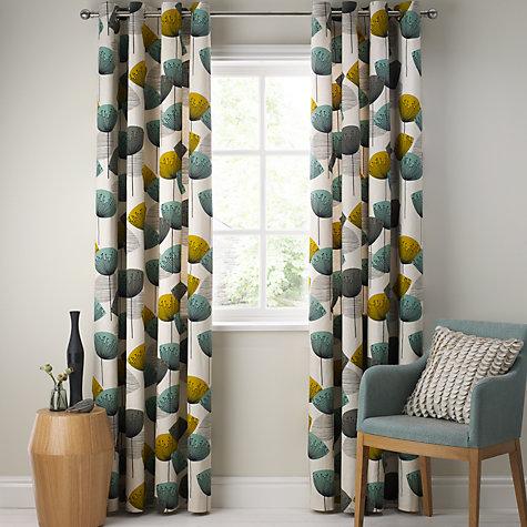 Buy Sanderson Dandelion Clocks Pair Lined Eyelet Curtains
