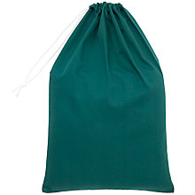 Buy School Drawstring Linen Bag, Green Online at johnlewis.com