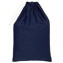 Buy School Drawstring Linen Bag, Navy Online at johnlewis.com