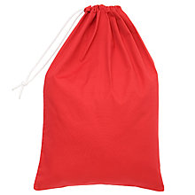 Buy School Drawstring Linen Bag, Red Online at johnlewis.com
