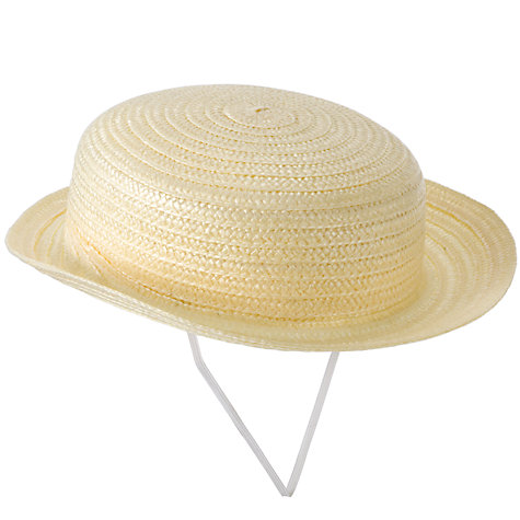 Buy Girls' Untrimmed Boater Online at johnlewis.com