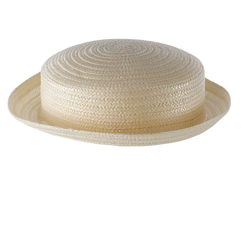 Buy School Girls' Straw Boater Online at johnlewis.com