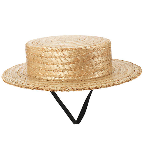 Buy Girls' Straw Boater Online at johnlewis.com