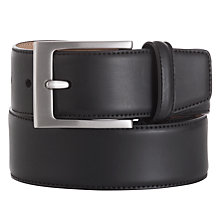 Buy John Lewis Basic Leather Belt, Black Online at johnlewis.com