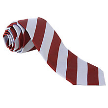 Buy Woodhill School Unisex Striped Tie, Maroon/Grey Online at johnlewis.com