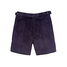 Buy Boys' School Cord Shorts, Navy Online at johnlewis.com