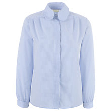 Buy St John's Senior School Girls Stripe Blouse, White/Navy Online at johnlewis.com