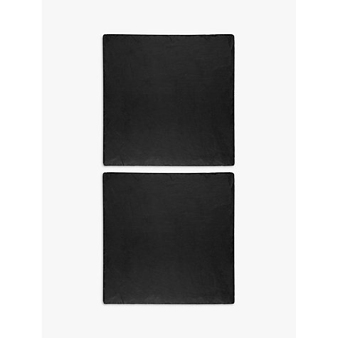 Buy Just Slate Square Placemats, Set of 2, Dark Grey Online at johnlewis.com