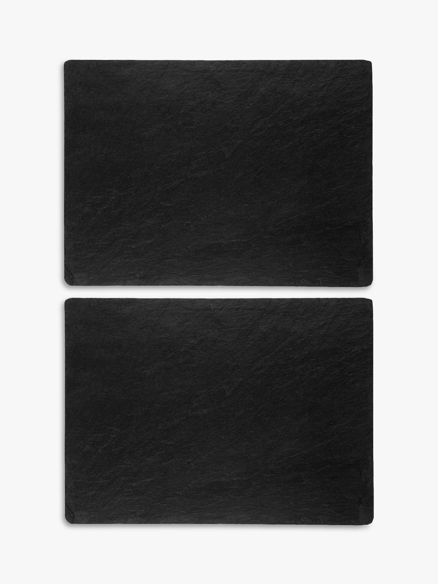 Just Slate Just Slate Placemats, Set of 2, Dark Grey