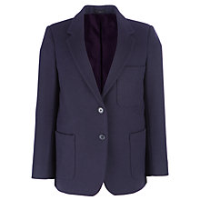 Buy Girls' School Wool Blazer, Navy Online at johnlewis.com