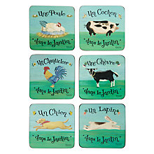 Buy Pimpernel Dans le Jardin Coasters, Set of 6 Online at johnlewis.com