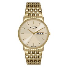 Buy Rotary GB02624/03/DD Men's Windsor PVD Stainless Steel Watch, Gold Online at johnlewis.com
