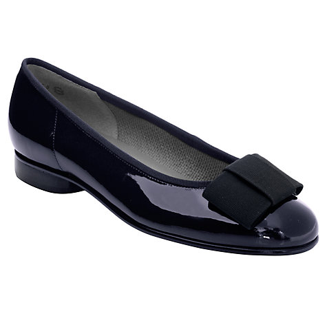Buy Gabor Assist Flat Bow Ballerina Pumps Online at johnlewis.com
