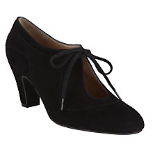 Buy John Lewis Xalao Lace-Up Suede Shoe-Boots, Black Online at johnlewis.com