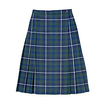 Buy Girls' School Douglas Tartan Kilt, Blue/Green Online at johnlewis.com