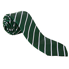 Buy John Lewis Unisex Stripe Tie, Green/White Online at johnlewis.com