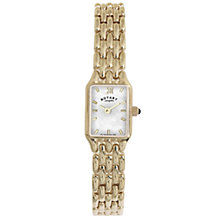 Buy Rotary LB00739/41 Women's Rectangular Mother of Pearl Dial Watch Online at johnlewis.com