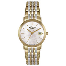 Buy Rotary LB02623/41 Ladies Round Dial Two-Tone Watch, Gold / Silver Online at johnlewis.com