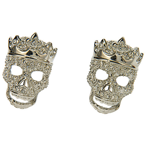Buy Simon Carter Diamante Skull Cufflinks Online at johnlewis.com