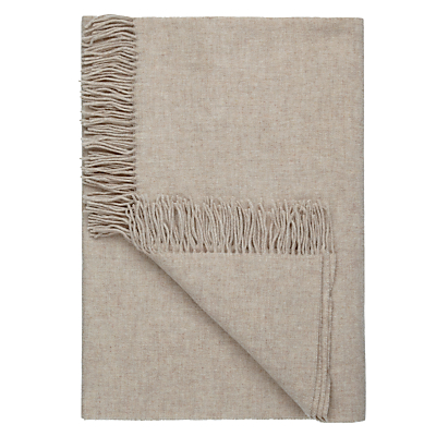 John Lewis Relaxed Country Plain Lambswool Throw