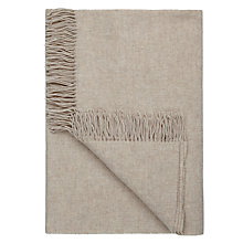 Buy John Lewis Relaxed Country Plain Lambswool Throw Online at johnlewis.com