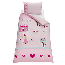 Buy little home at John Lewis Princess Duvet Cover Set, Single Online at johnlewis.com