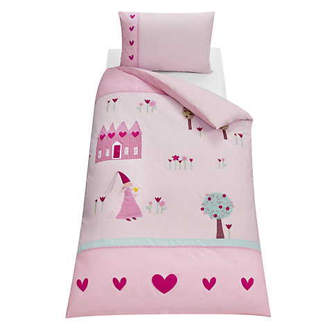 Buy little home at John Lewis Princess Duvet Cover and Pillowcase Set, Single Online at johnlewis.com