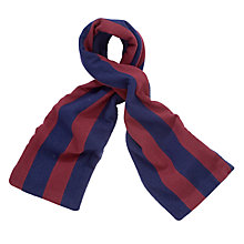 Buy Leehurst Swan School Unisex Scarf, Year 7 - Year 11, Navy/Maroon, One Size Online at johnlewis.com