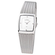 Buy Skagen 380XSSS1 Ladies Square Stainless Steel Watch Online at johnlewis.com