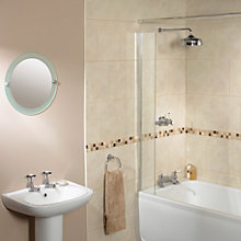 Buy Aqualux Splash Guard Shower Screen Online at johnlewis.com