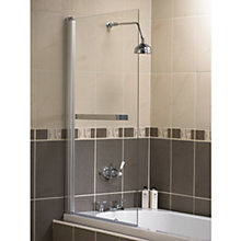 Buy Aquarius Shower Screen with Towel Rail Online at johnlewis.com