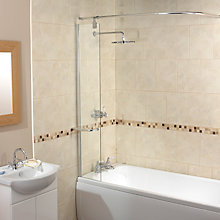Buy Aqualux Splash Guard Shower Screen with Rail Online at johnlewis.com