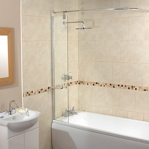 Buy Splash Guard Shower Screen with Rail Online at johnlewis.com