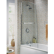 Buy Aqualux Elite Sail Shower Screen with Towel Rail Online at johnlewis.com