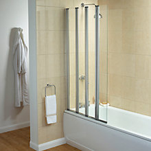 Buy Elite Semi Frameless 4 Fold Shower Screen Online at johnlewis.com