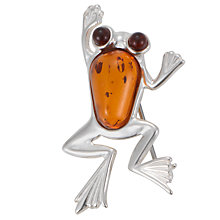 Buy Goldmajor Amber Silver Frog Brooch Online at johnlewis.com