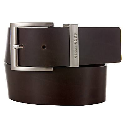 BOSS Bud Leather Belt, Black