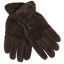 Buy John Lewis Suede Pull Cord Gloves Online at johnlewis.com