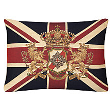 Buy John Lewis Hampton Union Jack & Crest Cushion Online at johnlewis.com