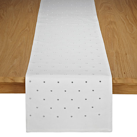 Buy John Lewis Dots Runner, Cream/White Online at johnlewis.com