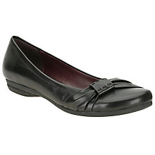 Buy Clarks Discovery Bay Pleat Front Ballerinas Online at johnlewis.com