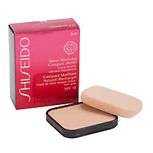 Buy Shiseido Sheer Matifying Compact SPF 10 (Refill) Online at johnlewis.com