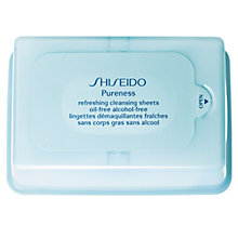 Buy Shiseido Pureness Refreshing Cleansing Sheets Oil-Free Online at johnlewis.com