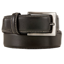 Buy John Lewis Contrast Stitch Belt, Black/Silver Online at johnlewis.com