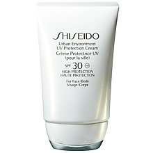 Buy Shiseido Urban Environment UV Protection Cream SPF 30, 50ml Online at johnlewis.com